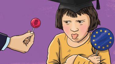 Spoiled child illustration
