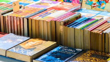 Books sold at a street market