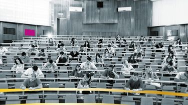 Students in lecture hall