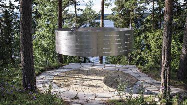 The Clearing memorial, 3RW, Utøya, Norway
