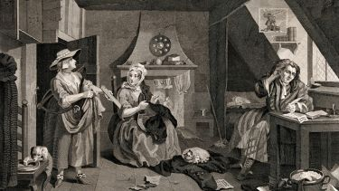 The Distrest Poet, by William Hogarth