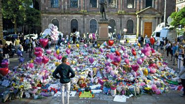 Sea of flowers after Manchester arena bombing