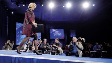 U.S. Secretary of Education Betsy DeVos addresses the Conservative Political Action Conference at the Gaylord National Resort and Convention Center February 23, 2017 in National Harbor, Maryland.