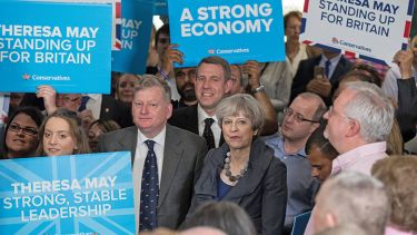 Theresa May on election campaign