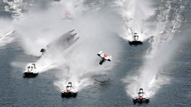 Powerboat racing accident