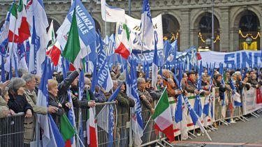 A historic Alleanza Nazionale election campaign event in Rome