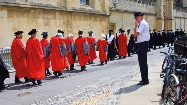University of Oxford Encaenia Procession 2010. Porter watching