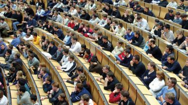 University lecture hall packed full of students