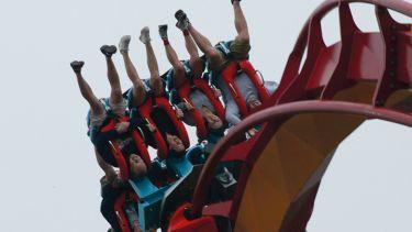 Upside down on rollercoaster