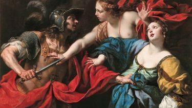 Venus Preventing her Son Aeneas from Killing Helen of Troy, by Luca Ferrari