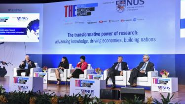 World Academic Summit government, industry, university panel
