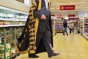 Academic in supermarket