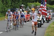 American man with peleton