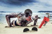 Zombie on the beach