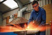 Blacksmith hitting anvil