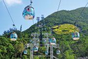 Cable car system, Ocean Park, Hong Kong, China