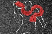 Chalk outline of a man