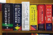 Shelf full of Chinese dictionaries