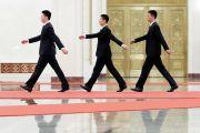 chinese men walking