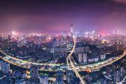 Night view of the city of Shenzhen, China