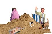 Cliff Richard and cuttlefish on the beach