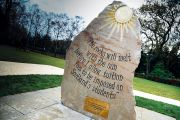Commemorative stone marking opposition to tuition fees, Heriot-Watt University