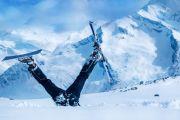 crashed skier