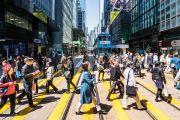 crossing in Hong Kong