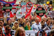 Crowd of 'End Austerity Now' demonstrators