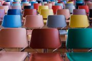 Empty colourful seats