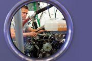 engine through window