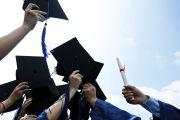 Graduates mortarboards