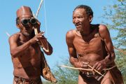 Indigenous people of the Kalahari Desert, South Africa