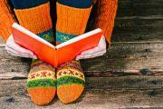 reading, book, winter
