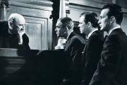 Joseph Welch, James Stewart, Brooks West and George C. Scott, Anatomy of a Murder, 1959