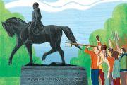 Robert Lee statue illustration