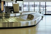 Luggage on airport carousel