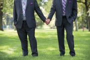 Men holding hands, same sex marriage