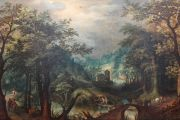 Painting of dense forest