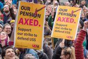 Pensions strike posters