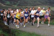 People competing in marathon, Scotland