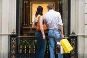 People window shopping, New Bond Street, London