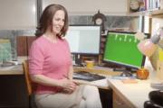 Frame from sexist Simon Fraser University video for Sweater Day