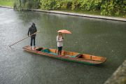 Punting in the rain