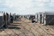 Kurdish refugees at a camp in Suruc, Turkey