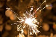 A sparkler held in someone's hand