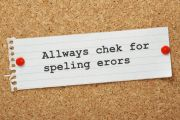 Spelling mistake/typo pinned to corkboard