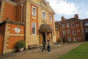 Students walking outside Lady Margaret Hall, University of Oxford