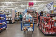 A woman in a US supermarket