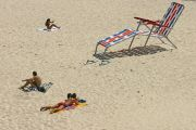 giant sunlounger on beach. Australia